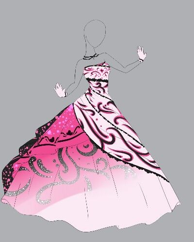 This Is Perfect For A Sweet 16 Dress Drawing Clothes Anime