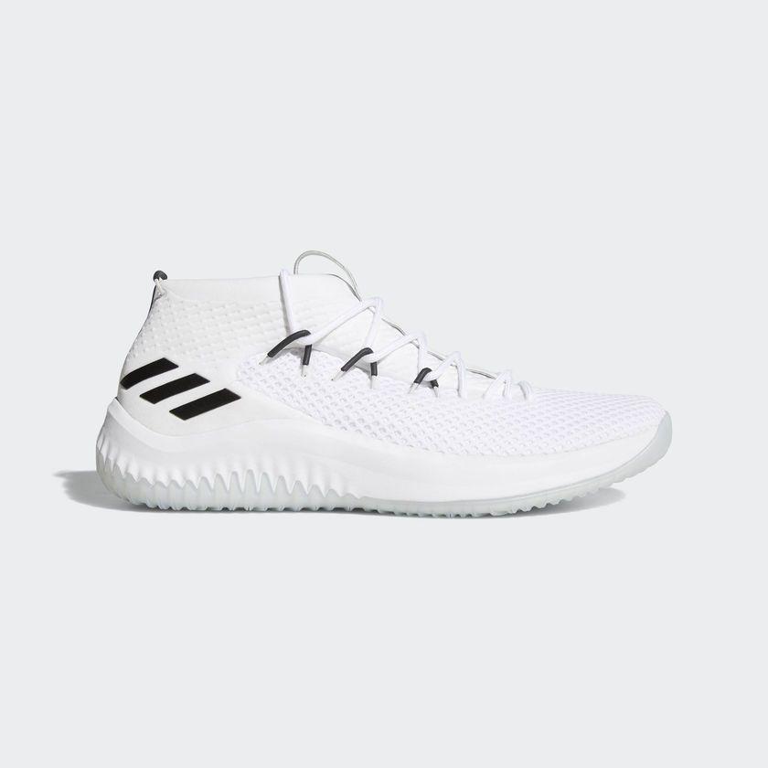 buy popular 7eca1 3568c Adidas Damian Lillard Dame 4 Men s White Basketball Shoes Various Sizes -  AC8646
