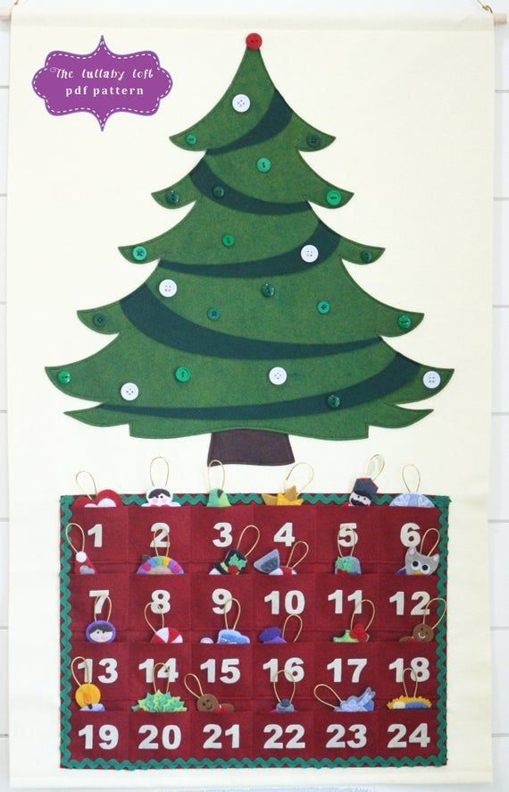 Christmas Tree Advent Calendar Pattern • 29 Ornaments • PATTERN • Instant Digital Download • Merry Christmas! #numerocalendrieraventaimprimer
