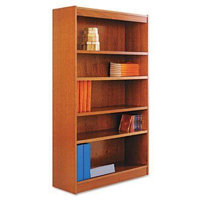Square Corner Standard Bookcase Bookcase Wood Veneer Alera