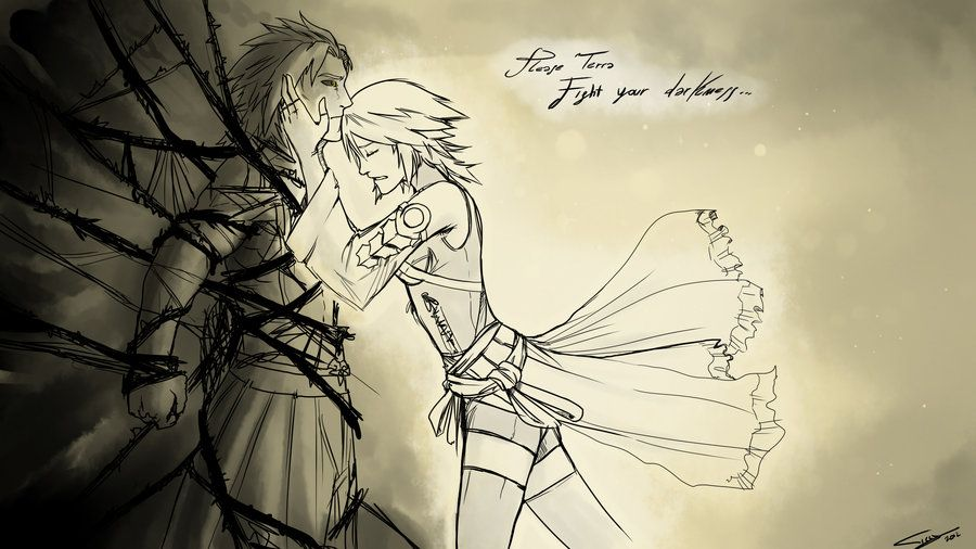 Kingdom Hearts Lineart : Fight your darkness aqua terra by ticcy.deviantart.com on