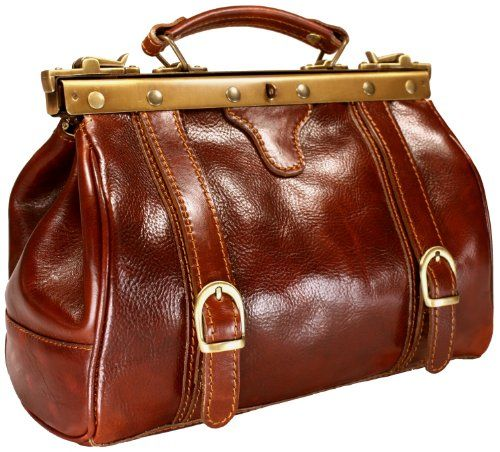 DELARA Cognac Colour Leather Doctor's Bag