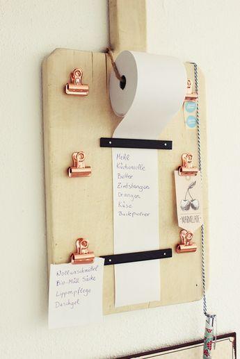 {DIY} Einkaufslisten Organizer (s'Bastelkistle) #kitchentips