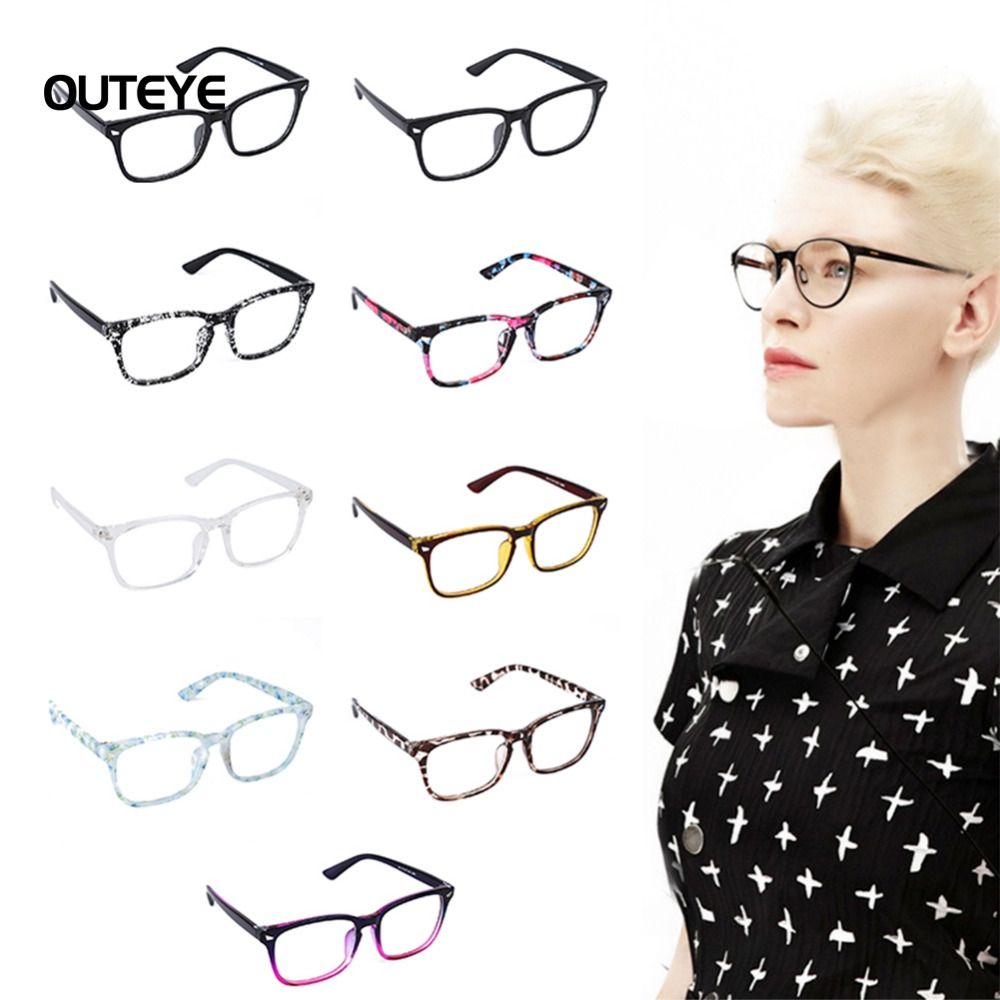 7b4394baf9 OUTEYE 9Color Hot optical myopia glasses clear lens eyewear nerd geek glasses  frame sun shade eyeglasses frames for men women W1