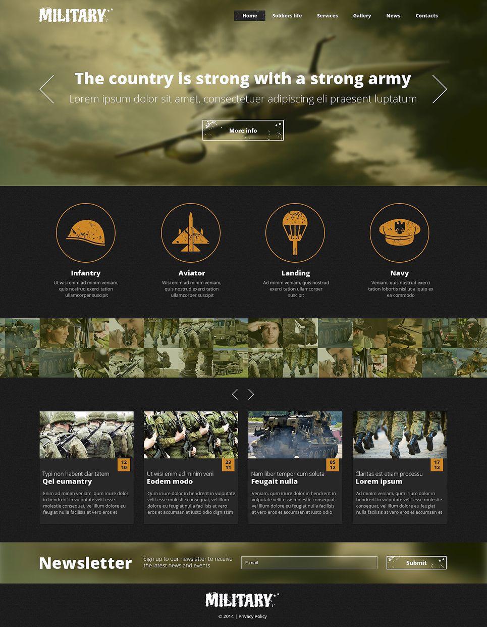 Army responsive website template web mobile uxui pinterest army responsive website template new screenshots big maxwellsz