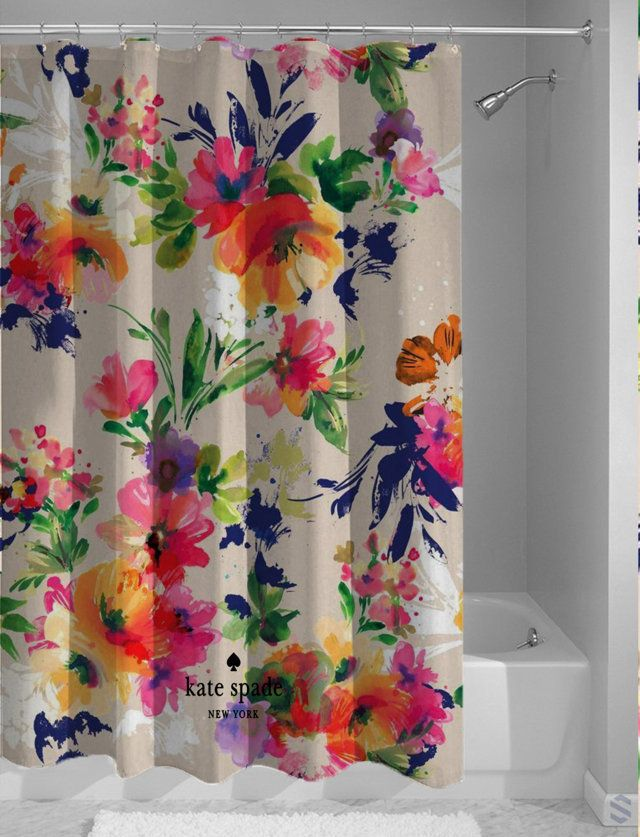 Hot Design Kate Spade Vintage Floral Custom Shower Curtain Cheap Floral Bathroom Floral Shower Curtains Modern Bathroom Design
