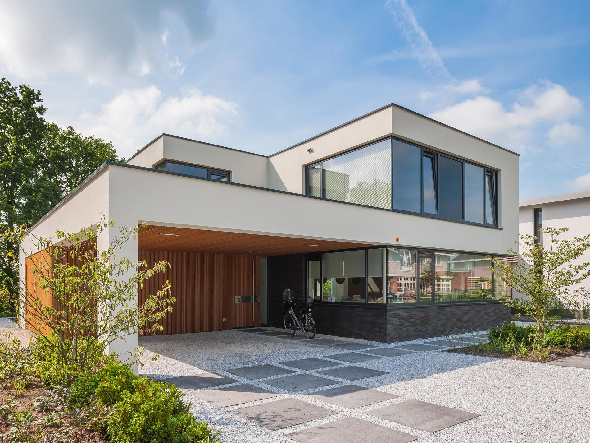 Maas Architecten » woonhuis woerden // stucwerk modern villa strak ...
