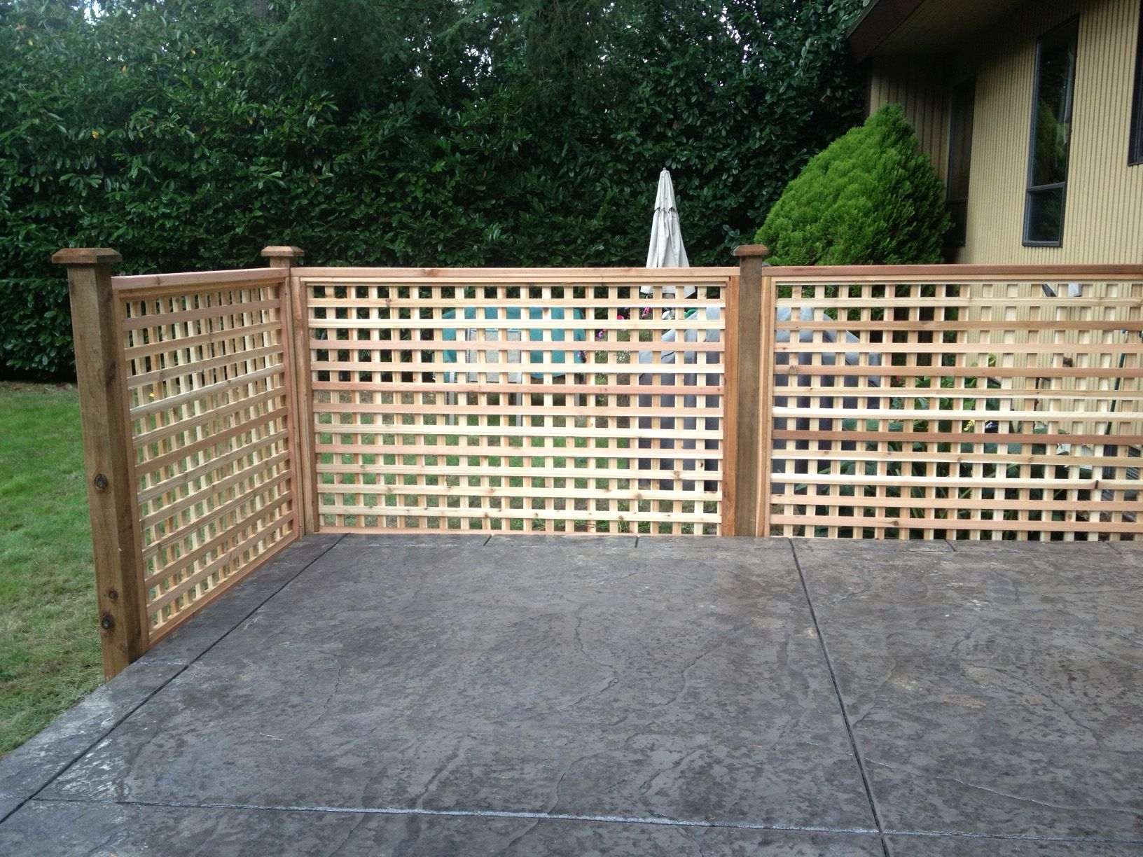 Cedar full lattice fence panel big red cedar my dream fence for lattice fence panels cedar fence red cedar lattices baanklon Images