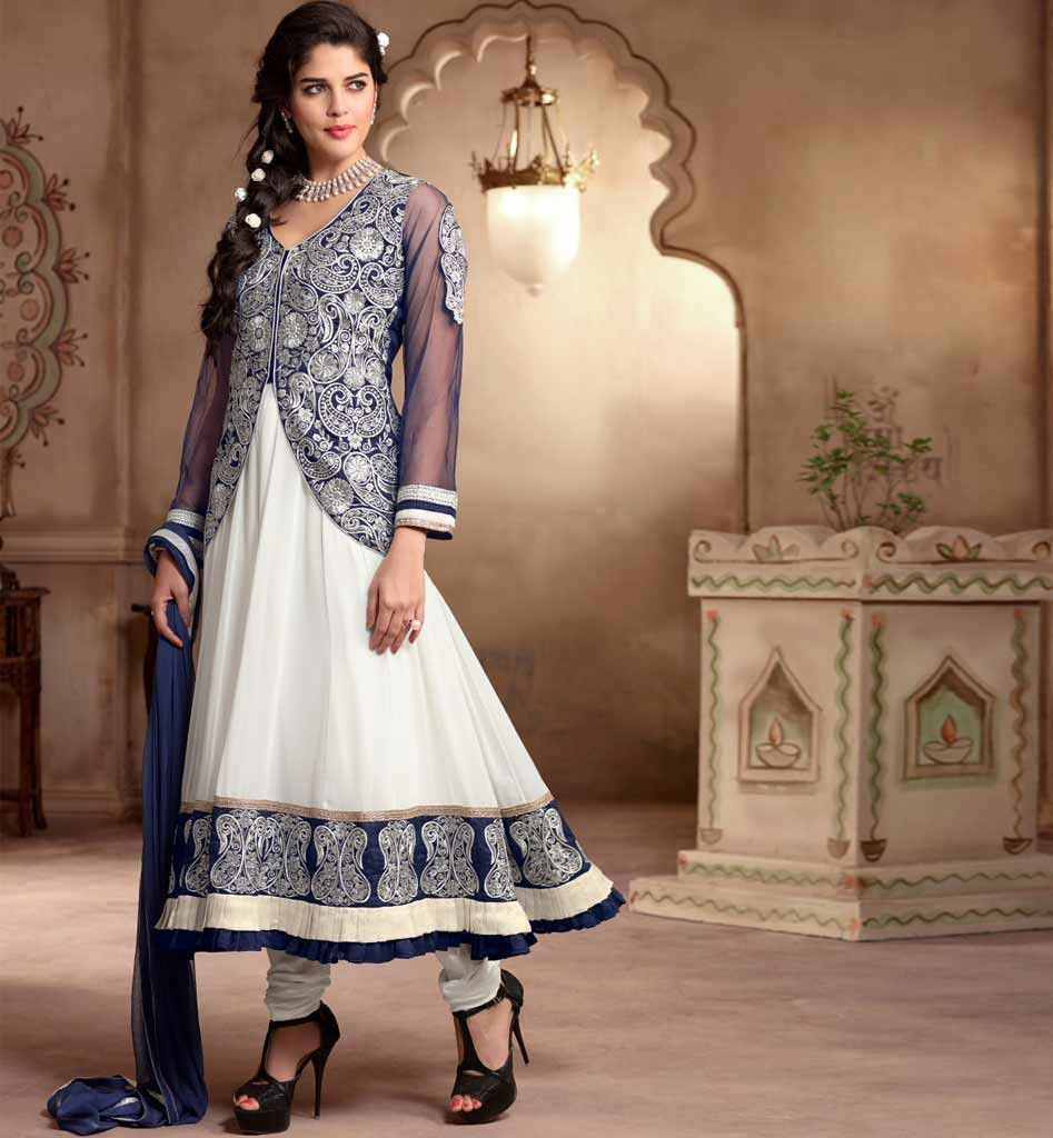 Anarkali with jacket look online shopping india fancy salwar ...