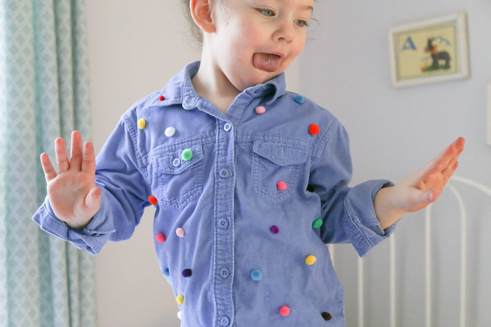 Where the Watermelons Grow | Kid-friendly living in Hampton Roads, Virginia: Upcycled pom-pom shirt