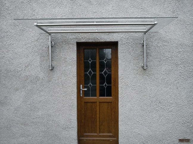 Over Door Awnings Modern Glass Over Door Canopy Awning