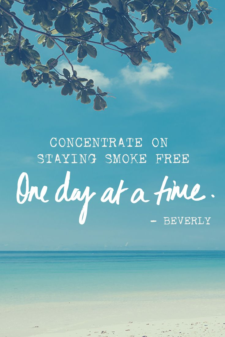 Quitting smoking can be difficult, so concentrate on
