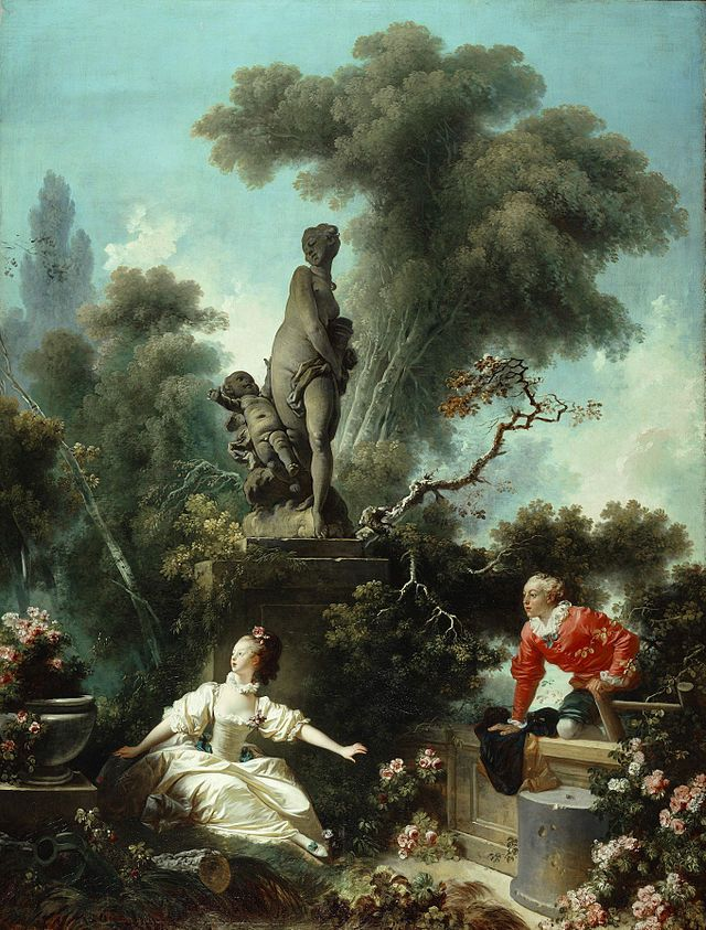 Rococo   Jean Honor     Fragonard The Meeting  Part of the Progress of     Rococo   Jean Honor     Fragonard The Meeting  Part of the Progress of Love  series   1771