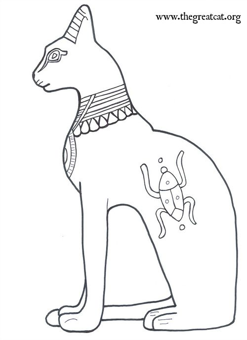 Seated Bastet Ancient Egyptian Cats A Coloring Book