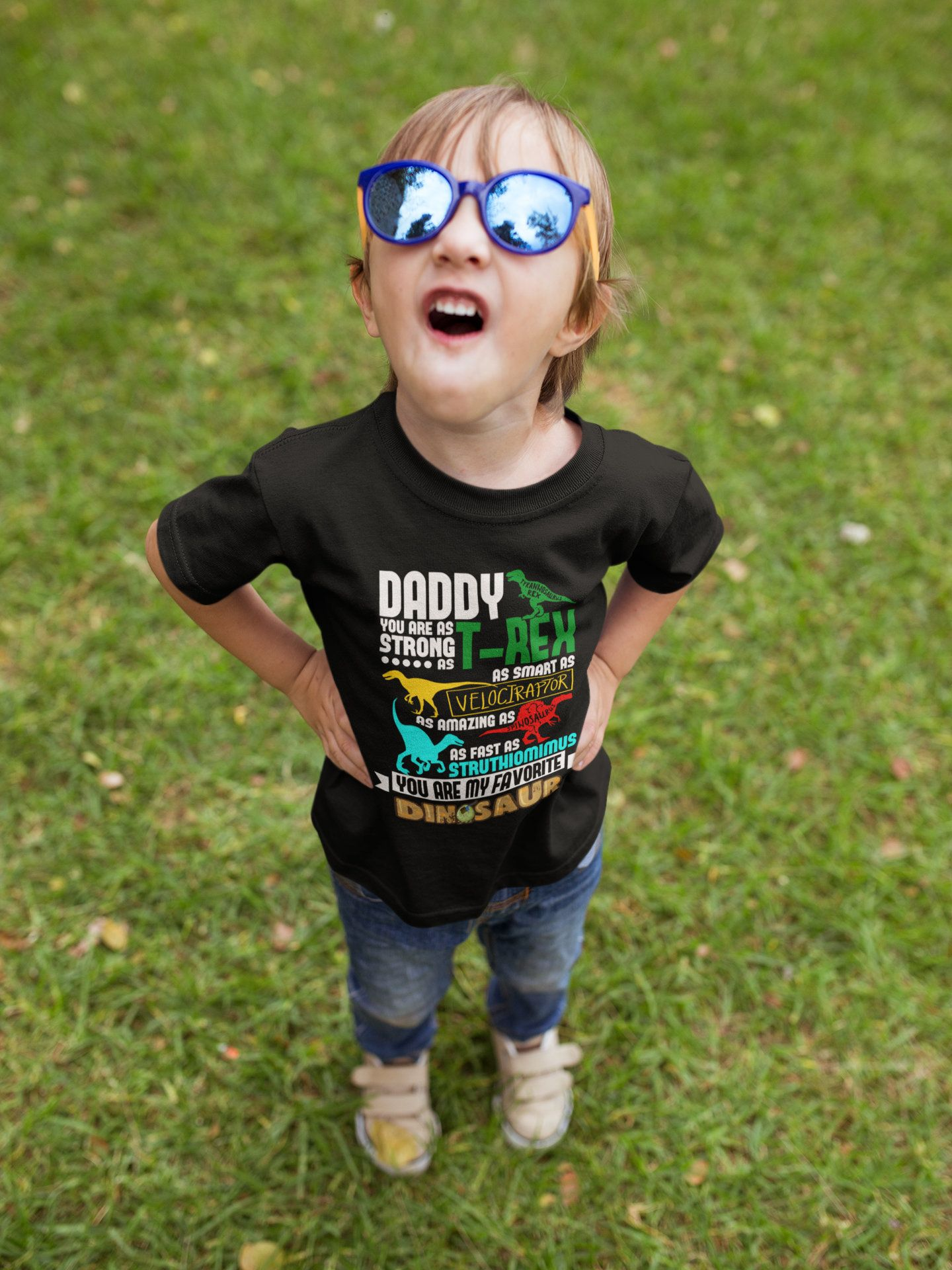 a24fe0b3 Daddy Favorite Dinosaur Youth Short Sleeve T-Shirt by DaveKingGlobal on Etsy