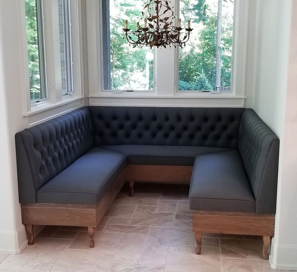 how to upholster a bench corner