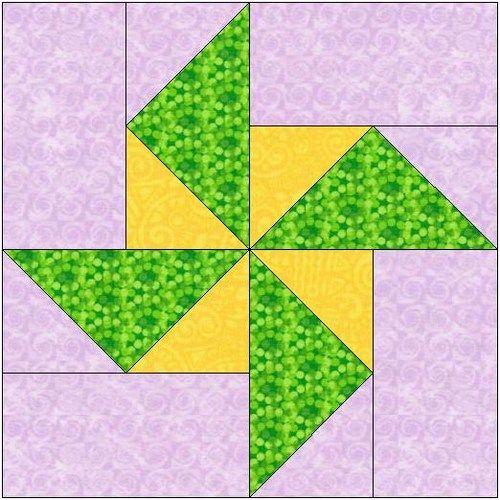 All Stitches Pinwheel Piecing Quilt Block Pattern Pdf 105a Pinwheel Quilt Pattern Star Quilt Blocks Quilt Block Tutorial
