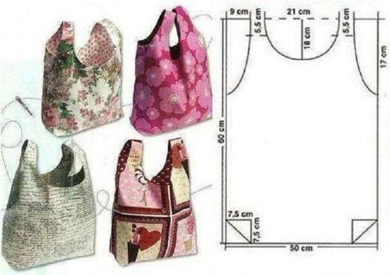 Könnyű nyári táskák szabásmintával - Színes Ötletek
