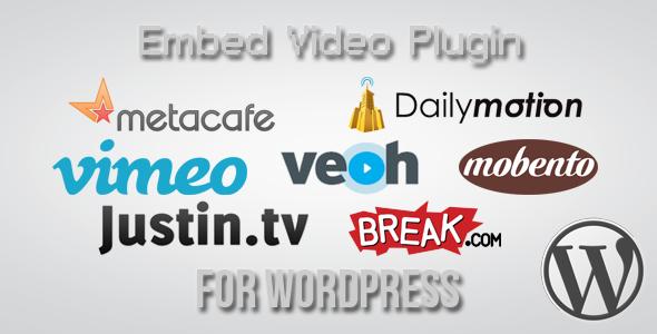 Embed Video Plugin for Wordpress Media Plugins