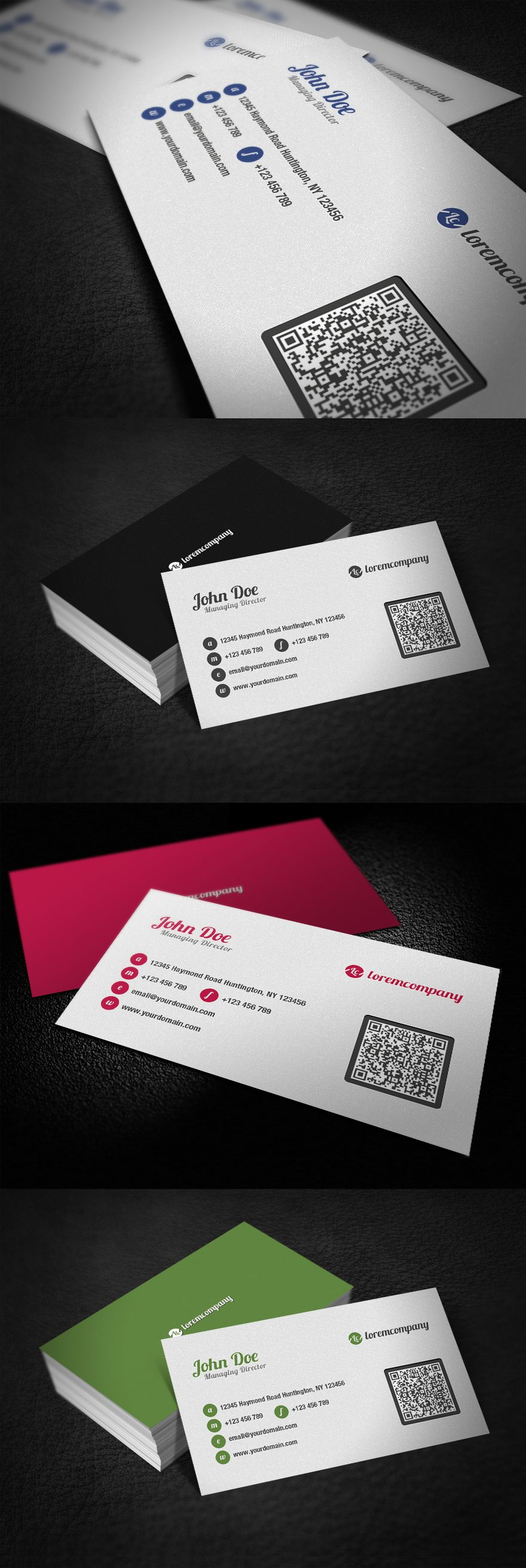 clean qr code business card by glenngoh on deviantart
