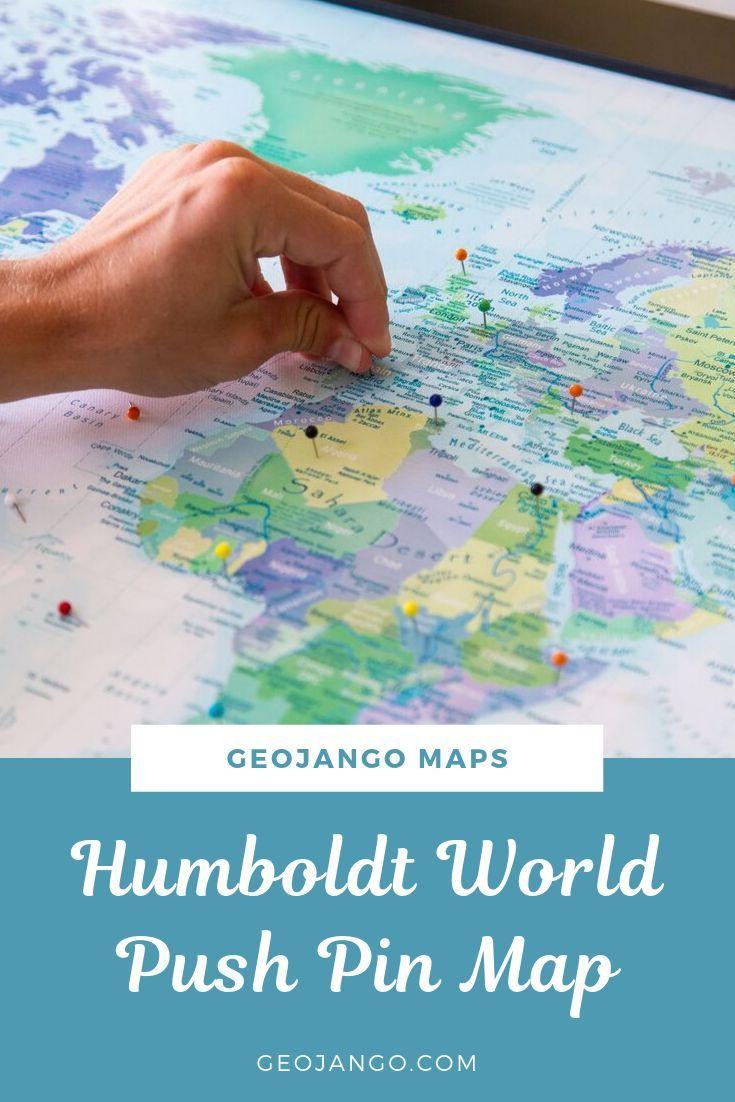 Humboldt Explorer - World Push Pin Map   Push pin world ...  Pushpin Map