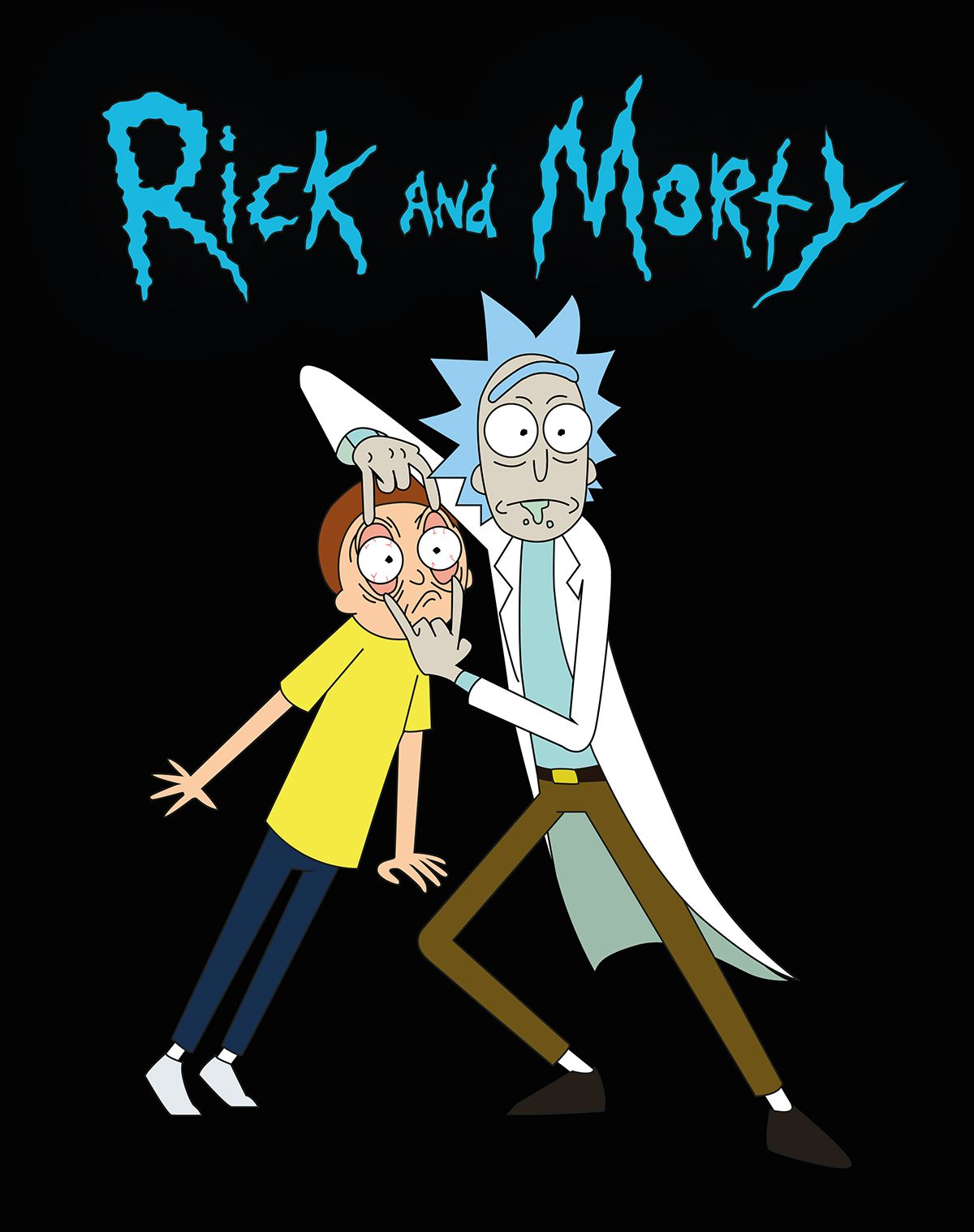 Fan Art Of Rick And Morty Made In Illustrator Cs6 Con Imagenes