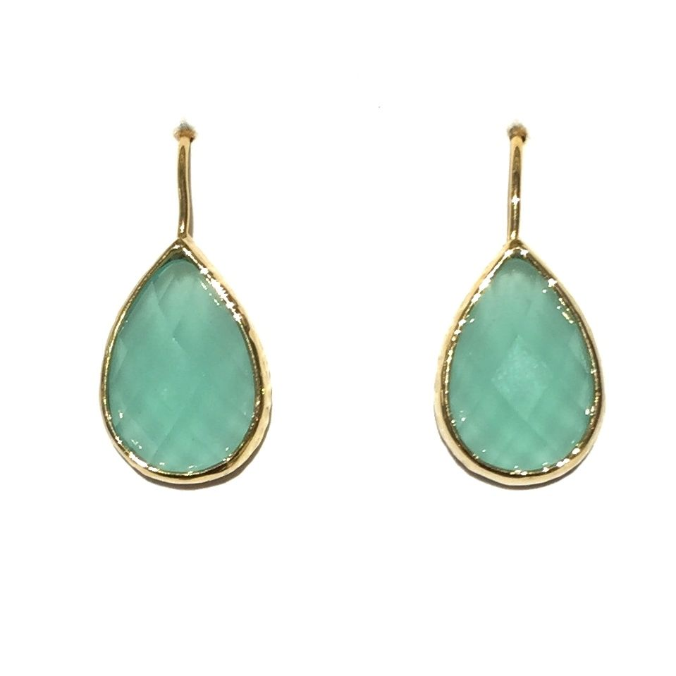 Peyton William Jewelry - Charleston, SC - Cami Chalcedony Vermeil Setting Earrings
