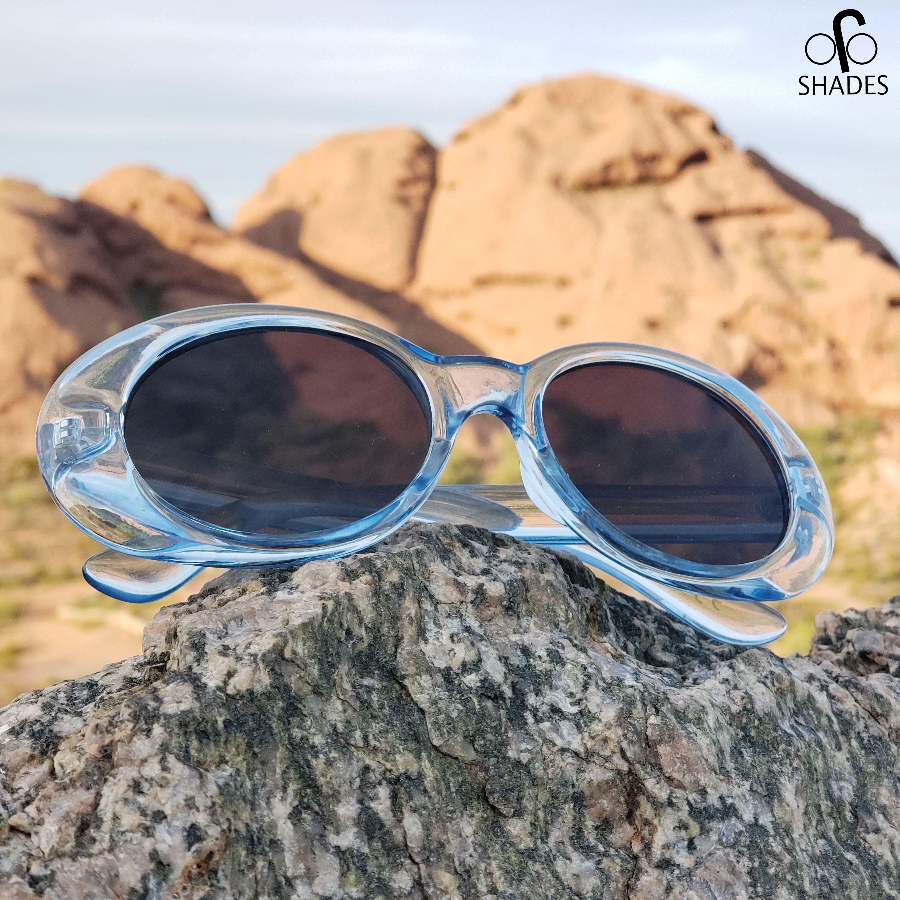 Transparent Blue Clout Goggles Kurt Cobain Sunglasses Cool Sunglasses Sunglasses Glasses Fashion