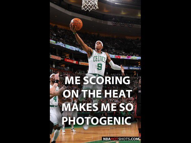 Memes Rajon Rondo Memes Rajon Rondo Is So Photogenic When He Is Scoring On The Heat Nbahotshots Com Boston Celtics Celtic Eastern Conference Finals