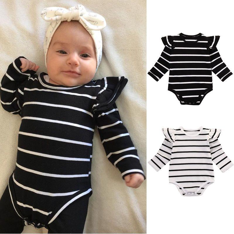 Newborn Infant Baby Boy Girl Cotton Romper Jumpsuit Playsuit Bodysuit Outfits