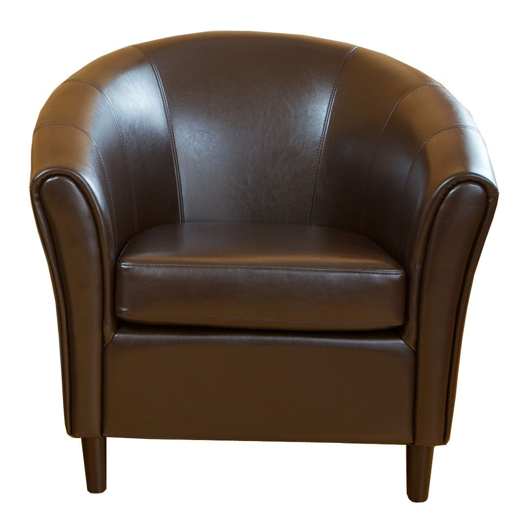 Best Selling Home Decor Napoli Brown Leather Chair Beige