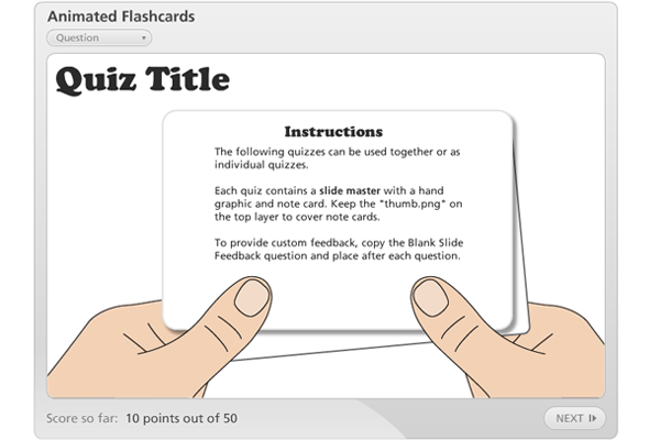 Animated Flashcards Template E Learning Heroes Flash Card Template Flashcards Student Business Cards
