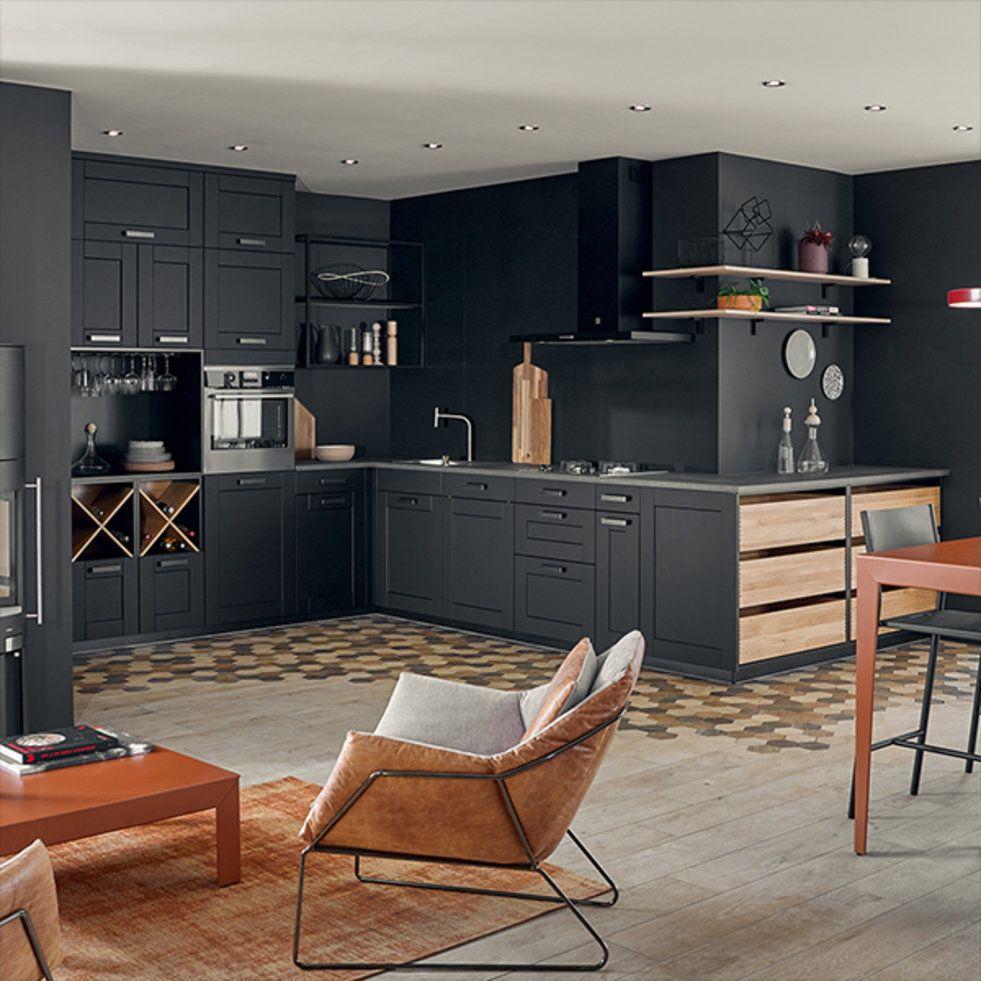 ambiance comptoir kitchen ideas cuisine ouverte. Black Bedroom Furniture Sets. Home Design Ideas