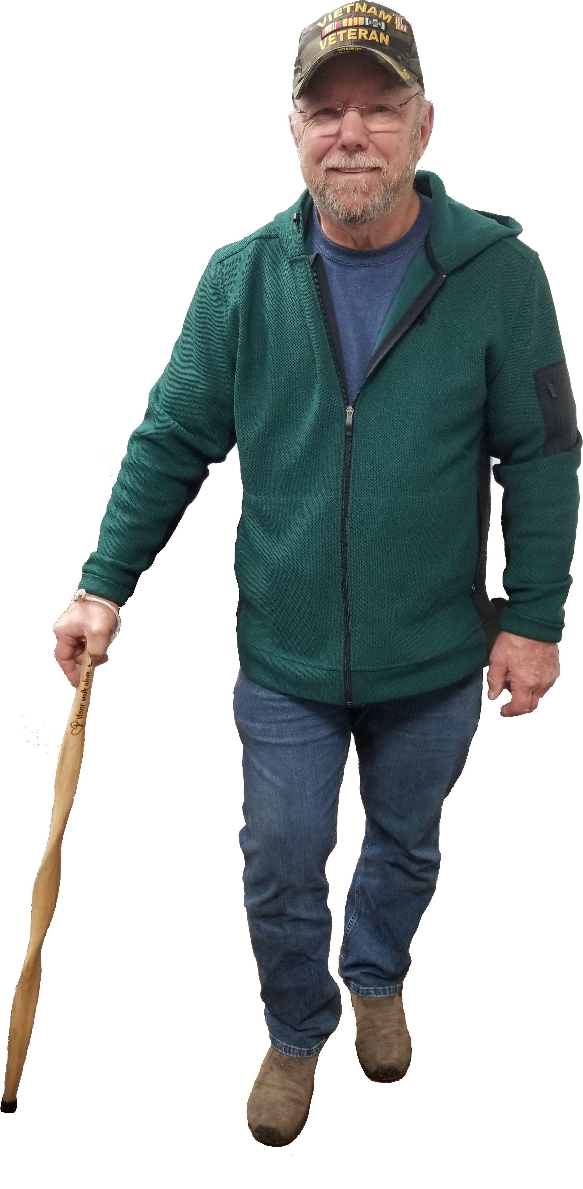 Custom engraved walking stick wooden walking sticks