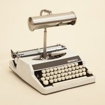 Typewriter turned lamp - Let Katie Thompson of REcreate in Cape Town, South Africa inspire your reclaimed trash decor.