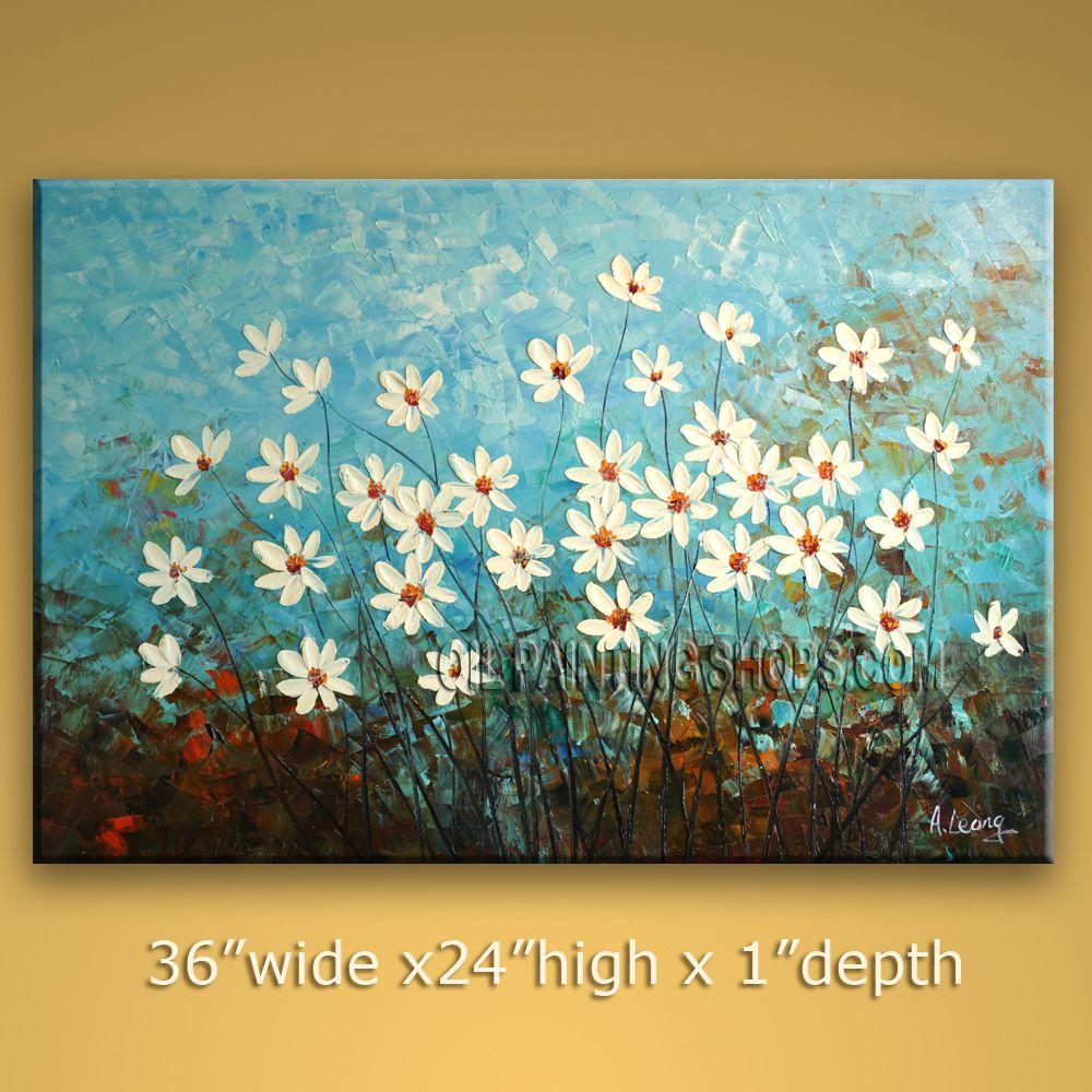 Original Fine Art Painting Oil On Canvas Stretcher Contemporary Flower By Leong 7037 Jpg 1000 Flower Painting Canvas Flower Painting Acrylic Painting Flowers