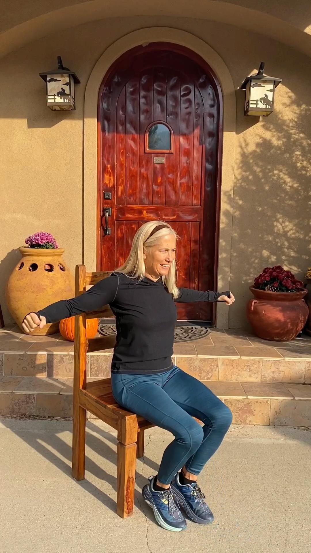 Beginner Chair Cardio Workout