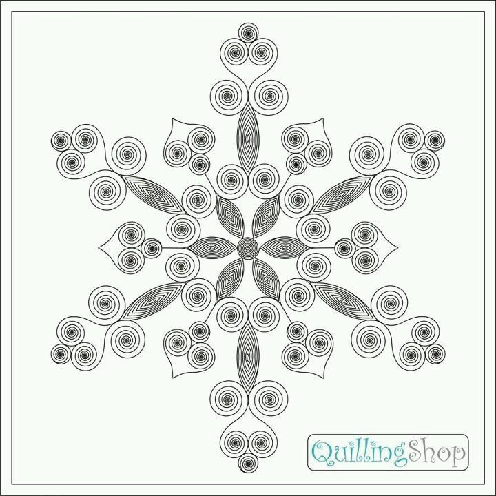 quilling snowflake patterns  Quilling Snowflake Pattern | snowflakes pattern | Quilled ...