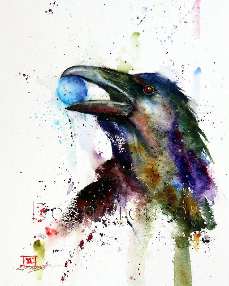 Wildlife Watercolor Paintings By Dean Crouser http://designwrld.com/wildlife-watercolor-paintings-dean-crouser/