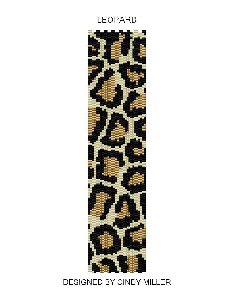 Leopard Peyote Bracelet Pattern