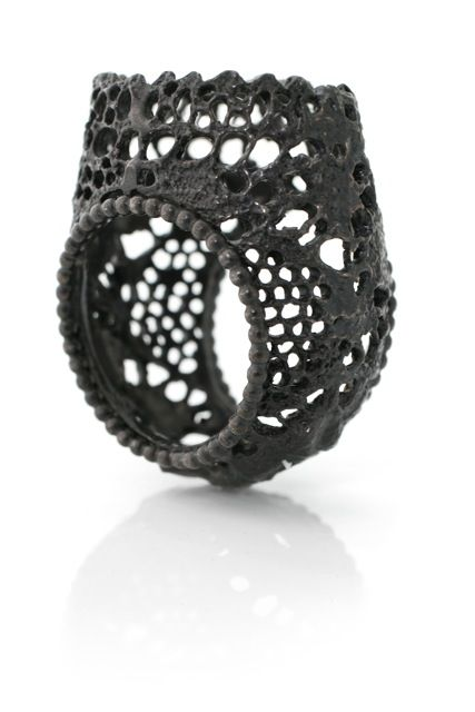 Cilmara de Oliveira, ring, oxydized silver