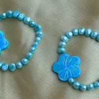 Blue Flower Pearl Bracelet from Treasures by Lynn