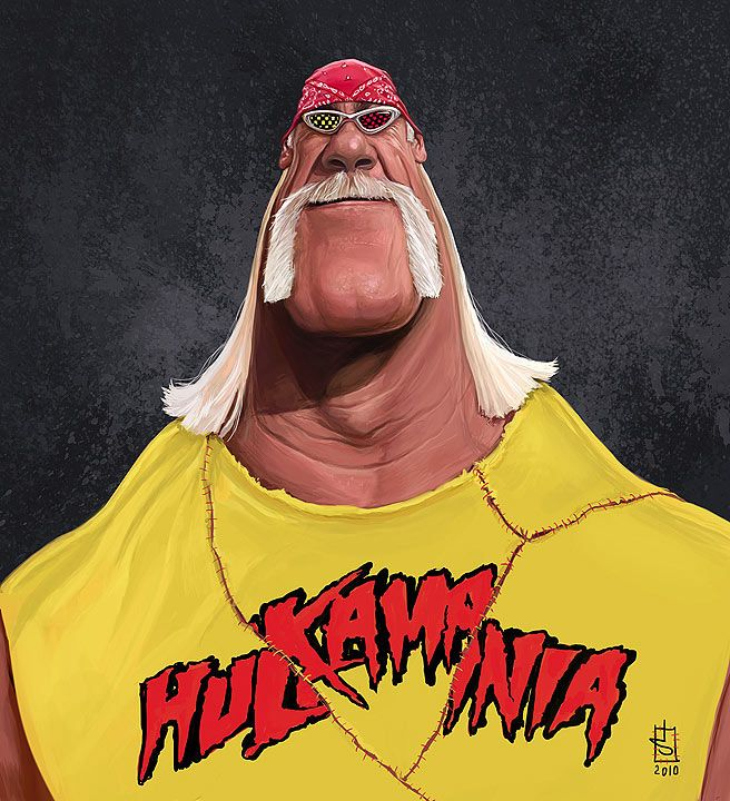 Caricatura de Hulk Hogan | caricatures in 2019 | Celebrity