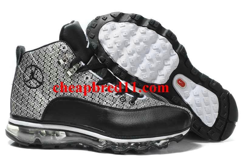 official photos 565bc ac0b4 Nike Air Jordan 12(XII) Mesh Air Max 09 Sole Fusion Black Grey White