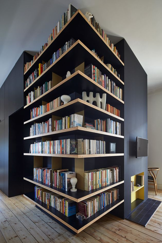 House Renovation Adds Unusual Deck And Shelving Renovation Wooden Patios Black House