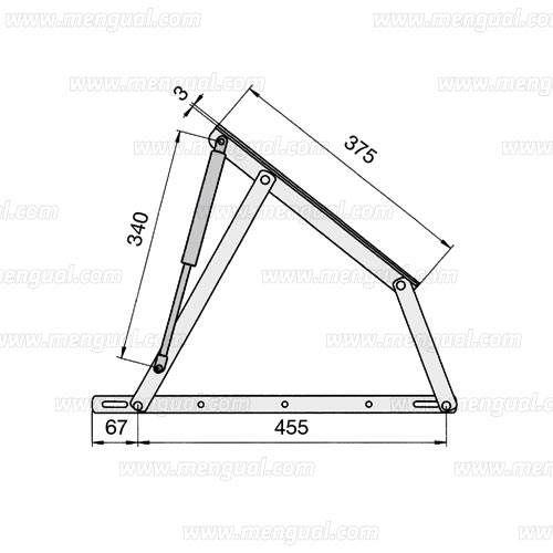 Jairo bisagras canape con piston hidraulico compases - Fabricar cama abatible ...