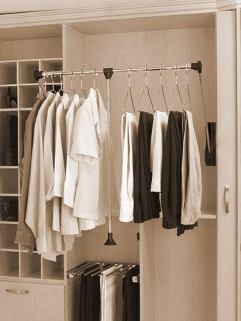 Pull Down Closet Rod Systems | Features Telescoping Pull Rod To Switch