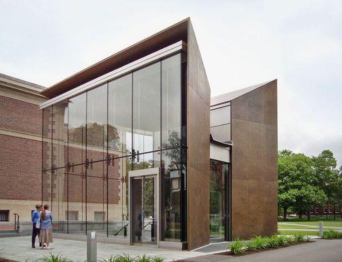 Steel cladding / bronze / panel BOWDOIN ART CENTER Zahner ...