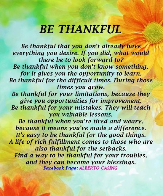 Poems About Being Thankful 7