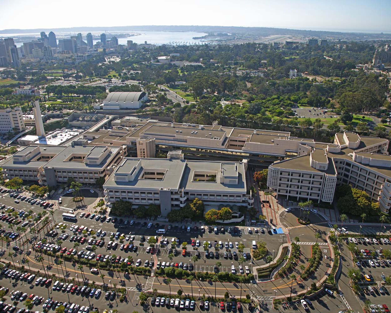 Aerial view of naval medical center san diego san diego